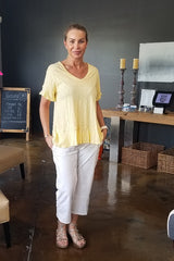 Yellow Cotton T Shirt