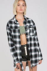 Black And Green Plaid Flannel