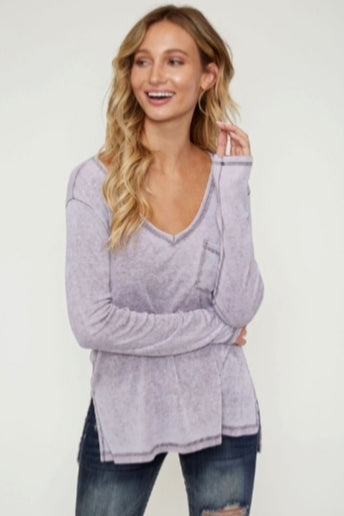 Lavender Long Sleeve Shirt