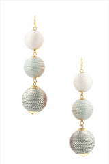 Ombre Drop Ball Earrings