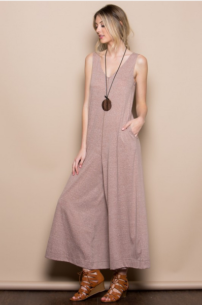 Khaki Wide Leg Jumpsuit
