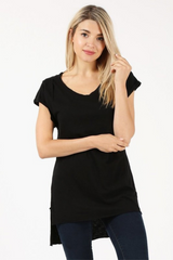 Black Hi Lo T Shirt