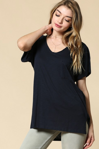 Navy Cotton Sub T Shirt