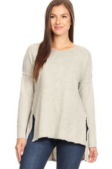 Taupe Mineral Dye Bell Sleeve Top