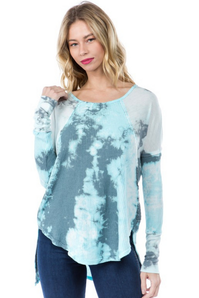 Blue Tie Dye Thermal