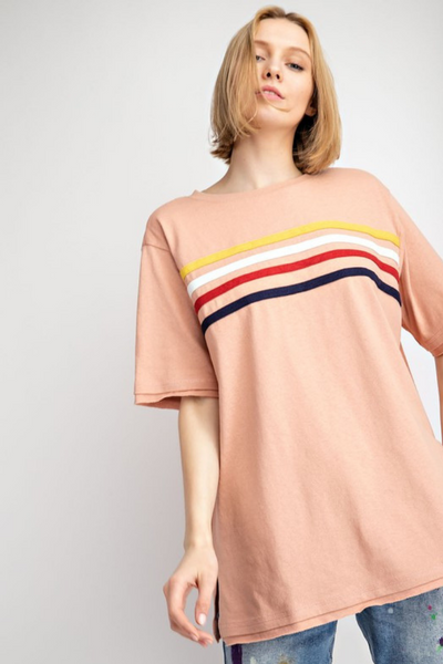 Apricot Stripe T Shirt