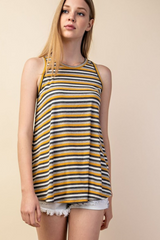 Ribbed Stripe Tank Top