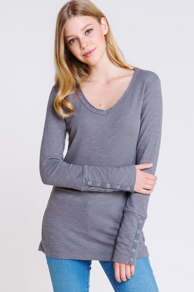 Charcoal Long Sleeve Pullover