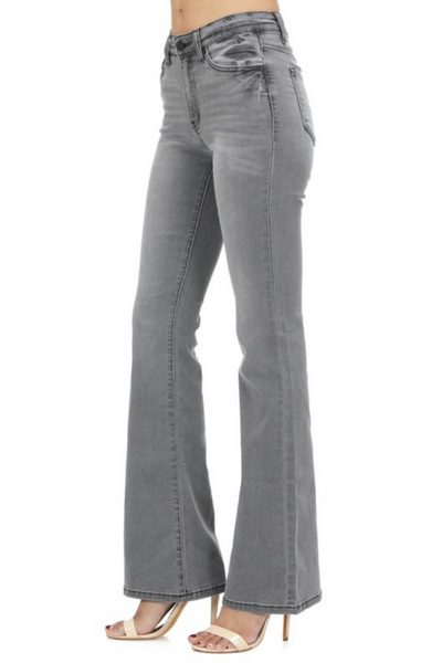 Grey Flare Jeans