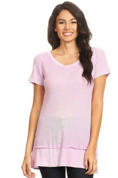 Lavender Short Sleeve Top