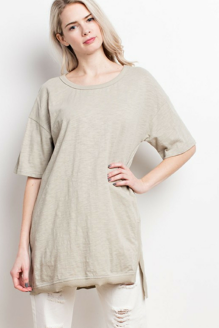 Light Sage Cotton T Shirt