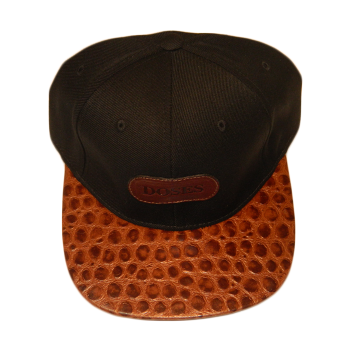 Dope Clothes - Spotted Gator Strapback Hat Top