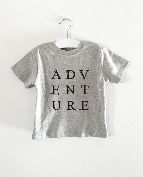 ADVENTURE word short sleeve tee