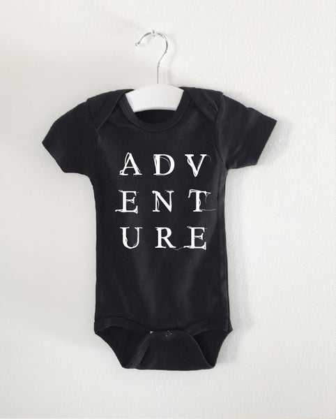 ADVENTURE word onesie