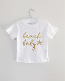 BEACH BABY word short sleeve tee