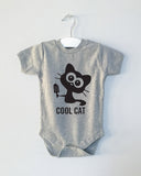 COOL CAT critter  onesie