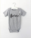 FIERCE word onesie