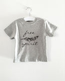 FREE SPIRIT word short sleeve tee