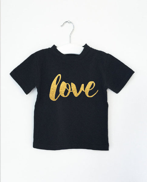 LOVE word short sleeve tee