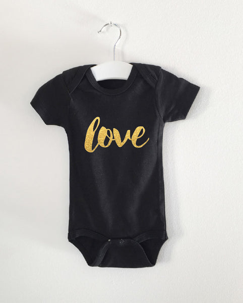 LOVE word onesie