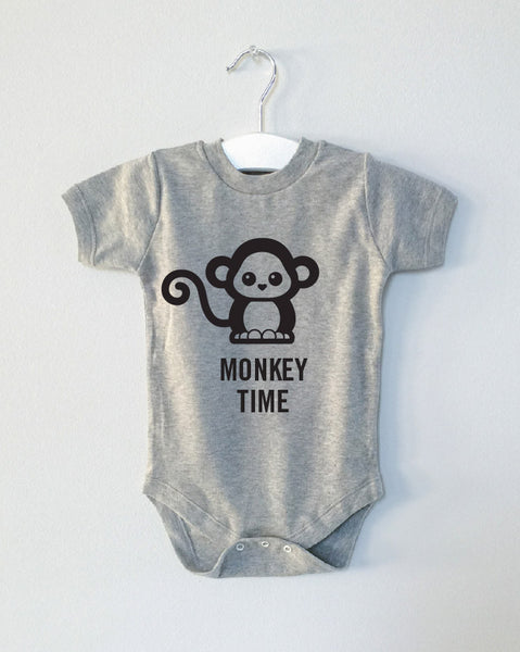MONKEY TIME critter onesie