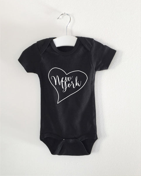 NEW YORK word onesie