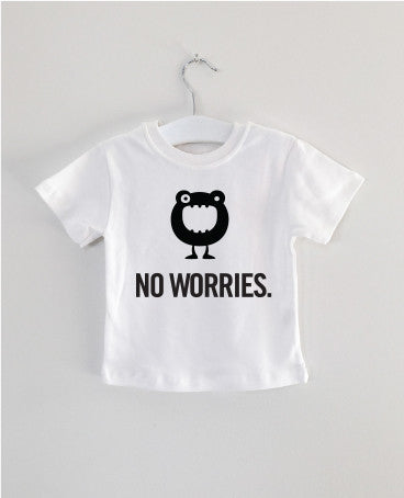 NO WORRIES monster tee