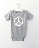 PEACE word onesie