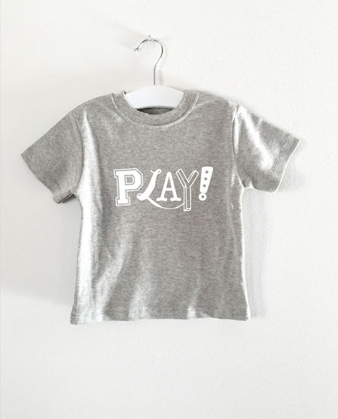 PLAY word short sleeve tee