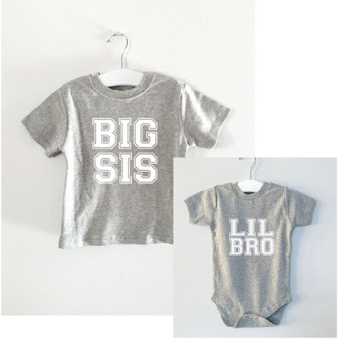 BIG SIS/LIL BRO matching set tee and onesie