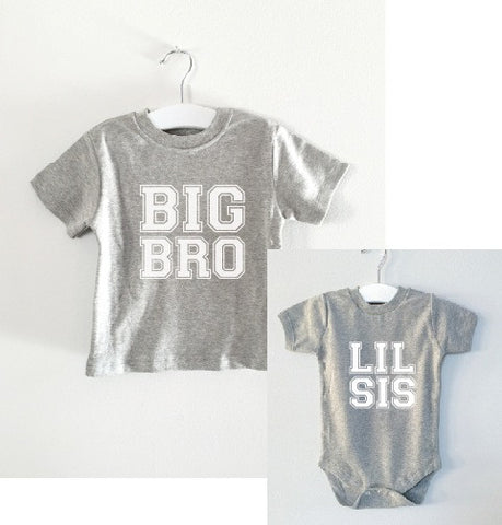 BIG BRO/LIL SIS matching set tee and onesie