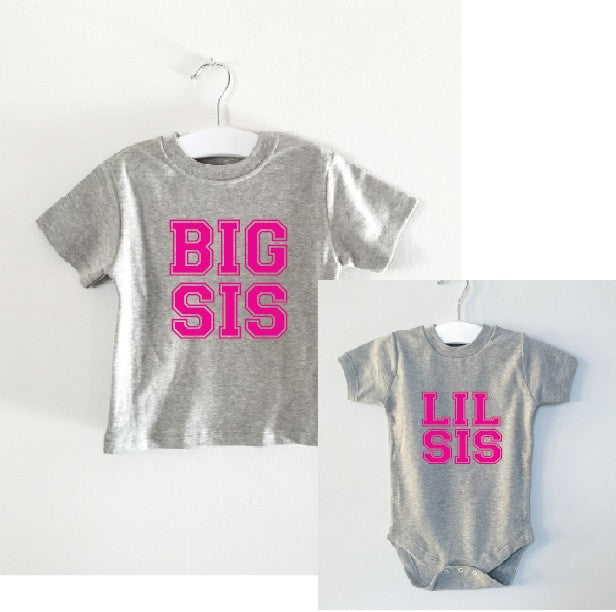 BIG SIS/LIL SIS matching set tee and onesie