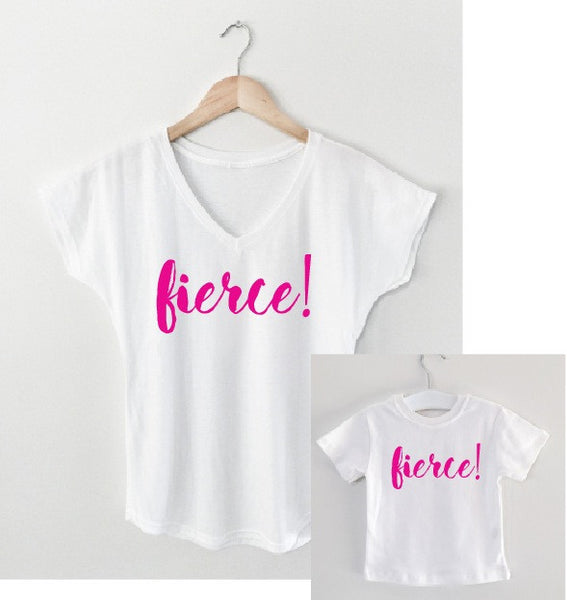 FIERCE mother/daughter tee matching set