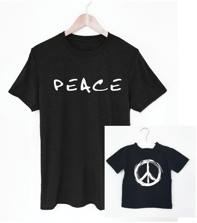 PEACE father/son tee matching set