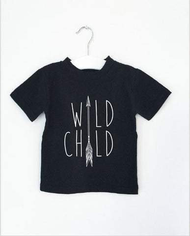 WILD CHILD word short sleeve tee