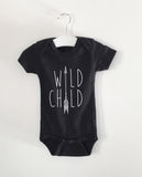 WILD CHILD word onesie
