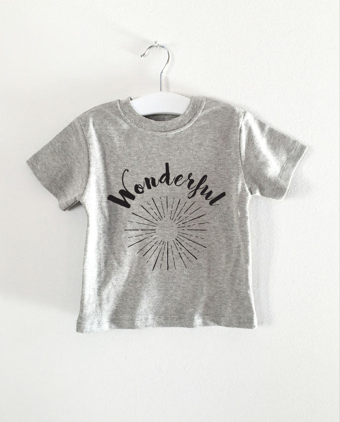 WONDERFUL word short sleeve tee
