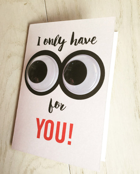 Googly eyes for you! card