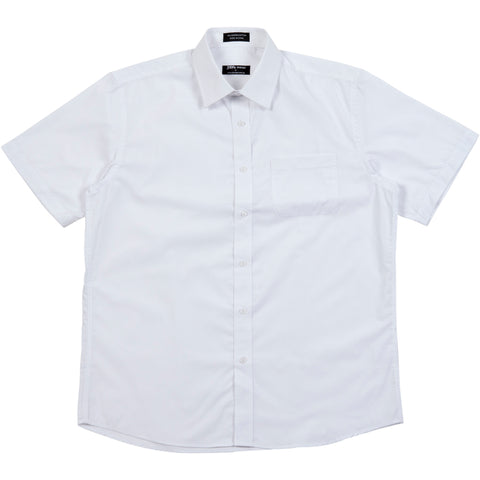 Paramount Short sleeve poplin shirt white