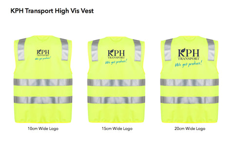 KPH Transport Hi Vis Vest Lime