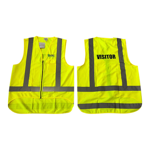 PBT Hi Vis Vest Lime Visitors