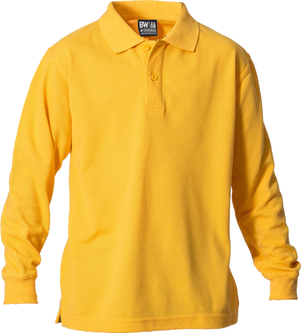 210gsm Plain Poly/Cotton Polo Long Sleeve