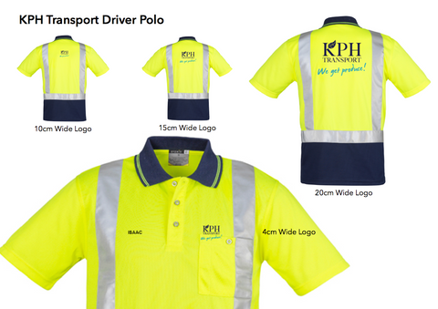 KPH Transport polo Lime/navy