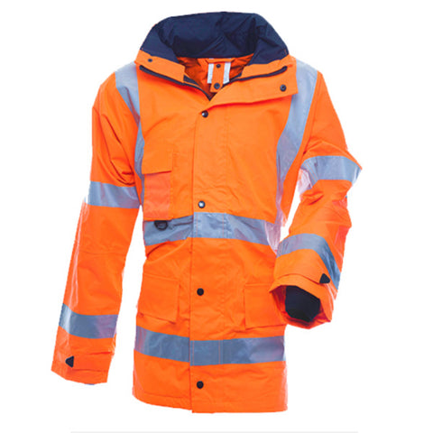 Hi-Vis Rain Jacket Orange