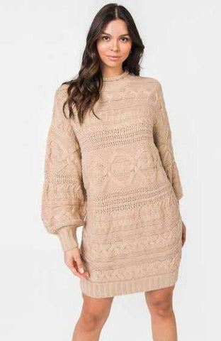 Bubbled Mini Sweater Dress