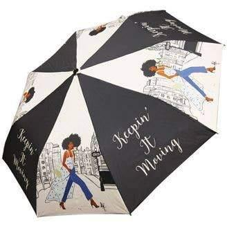 Fashionista Keep It Moving Artwork Umbrella
