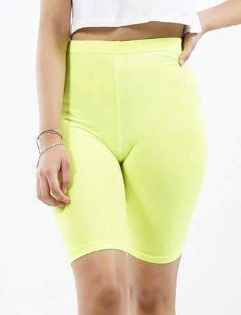 Basics Biker Shorts - Neon Lime