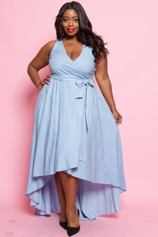 Denim Waterfall Dress