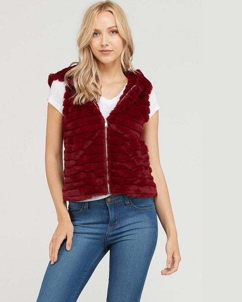 The Burgundy Bear Vest