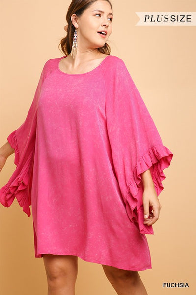 Fuchsia Flow Tunic Dress